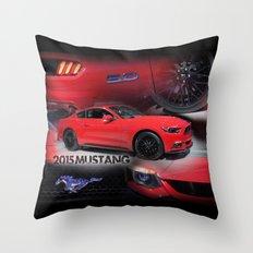 2015 Mustang 5.0 Throw Pillow