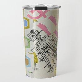 The Three Dimensions of Color Travel Mug