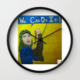 Muslim Rosie the Riveter Wall Clock