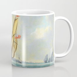 A Squadron Of The Fleet Bearing Down The Channel Off The South Coast Of England Towards An On-coming Coffee Mug