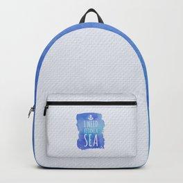 I Need Vitamin Sea Quote Backpack