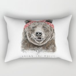 Break the rules (color version) Rectangular Pillow