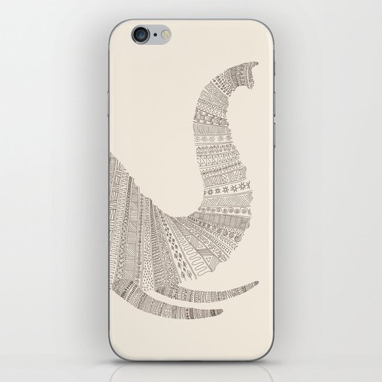 Elephant (On Beige) iPhone & iPod Skin