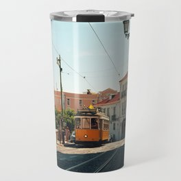 Lisbon yellow tram, Portugal Analog 6x6 Kodal Ektar 100 (RR 167) Travel Mug