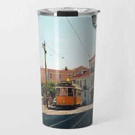 Lisbon yellow tram, Portugal Analog 6x6 Kodal Ektar 100 (RR 167) Travel Mug