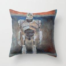 Iron Giant and Rothko Throw Pillow