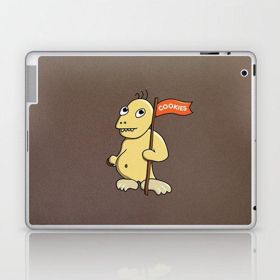 Funny Cartoon Cookie Monster Laptop & iPad Skin