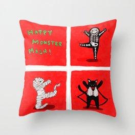 Happy Monster Mash! Throw Pillow