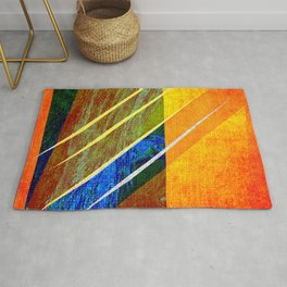 Abstract face Drawing Rug