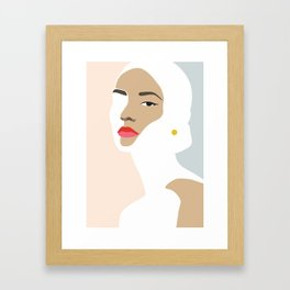 Woman with earring Nr/2 Framed Art Print
