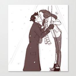 Winter Swings - sketch Canvas Print