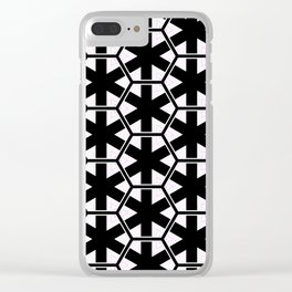 Multi Pattern Black and White Design Clear iPhone Case