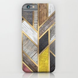 Rustic Scandinavian Design Colorful iPhone Case