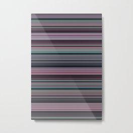 Fairy Floss Stripes Metal Print