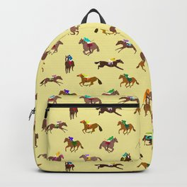 To The Horse Races (Yellow) Backpack