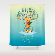 Cloud Music Shower Curtain