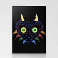 majora Stationery Cards featuring Dia de los Majora - Legend of Zelda by Katie Halliday