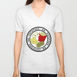 Potatoes On Potatoes Unisex V-Neck