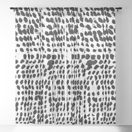 Flowing dots 02 Sheer Curtain