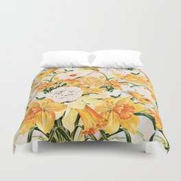 Wordsworth  and the daffodils. Duvet Cover