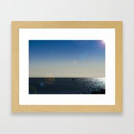 The Mediterranean At Mojacar Framed Art Print