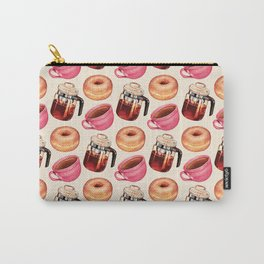 Coffee Donut Percolator Pattern Carry-All Pouch