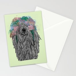Dredlock Dog (Pastel Green Edition) Stationery Cards