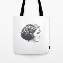 A portrait of Zelda Fitzgerald Tote Bag