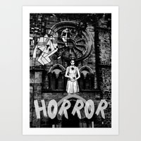 horror Art Prints featuring Horror by alexflasher