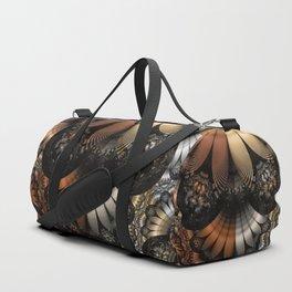 Autumn Fractal Pheasant Feathers in DaVinci Style Duffle Bag