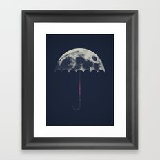 Space Umbrella Framed Art Print