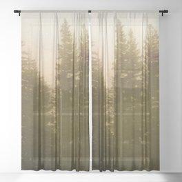 Adventure Forest XII - Pacific Northwest Wanderlust Sheer Curtain