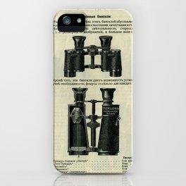 Vintage Page: Binoculars iPhone Case