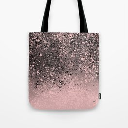Pink Splatter Abstract Tote Bag
