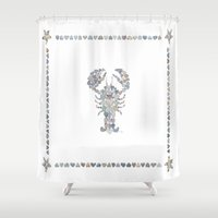 lobster Shower Curtains featuring Lobster by loverocksme