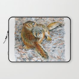 Siblings, baby red squirrels by Teresa Thompson Laptop Sleeve