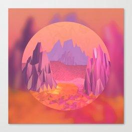 Woah, Pink Mountains Canvas Print