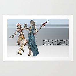 Final Fantasy - Fang and Vanille Art Print