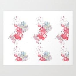 Cloud Stamp Art Print