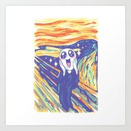 Kawaii Scream Art Print