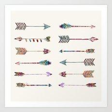 12 arrows Art Print