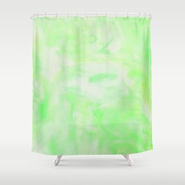 Neon Green Marble Shower Curtain