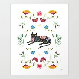 Spring kitty Art Print