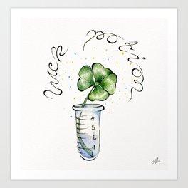 Four-Leaf Clover Luck Potion artprint Art Print