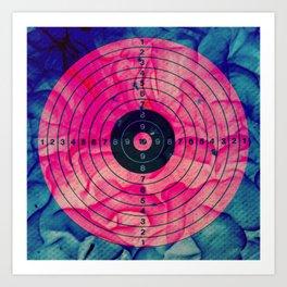 PINK bulls eye Art Print