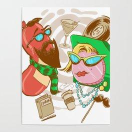 Hipster Bologna Poster