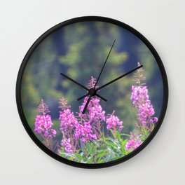 Rising Fireweed Wall Clock
