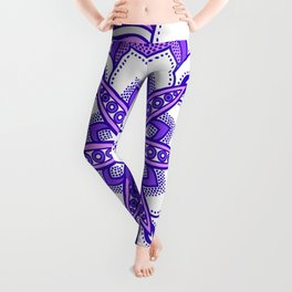 Mandala Flower : Purple  Leggings