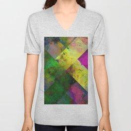 Dark Diamonds - Textured, patterned painting Unisex V-Neck