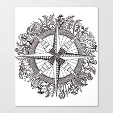 Brújula Frondosa Canvas Print